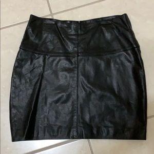 Wilson's black leather skirt